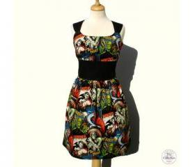 Handmade Hollywood Horror Monsters Pinup & Rockabilly Dress