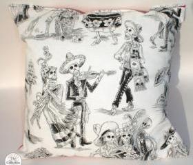 Handmade Day of the Dead 'A Dance After Death' Pillow