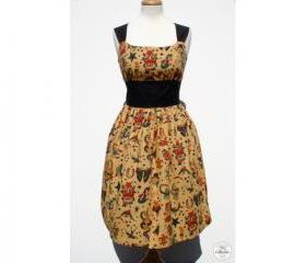Handmade Vintage Tattoo Art Pinup Rockabilly Dress