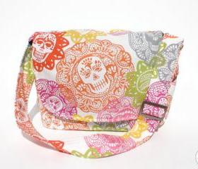 Handmade Day Of The Dead 'Papel Picado' Messenger Bag
