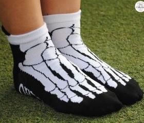 'Coffin Banned Skeleton Rebels Foot' Over Kill Socks