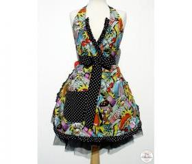 1950s The Shack Midnight Snack Rockabilly Pinup Apron