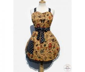 1950s Tattoo & Retro Rockabilly Vintage Pinup Apron