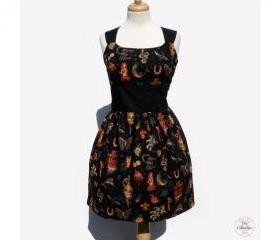 Handmade Black Tattoo Pinup Rockabilly Dress