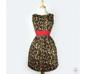 Classic Handmade Pinup 'Leopard Print' Rockabilly Dress